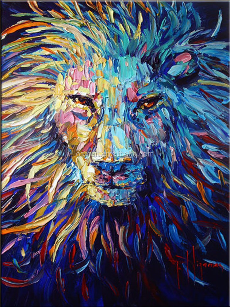 colorful animal oil painting