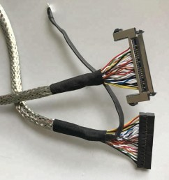 custom led wire harness lvds cable shielded twisted with molex [ 1000 x 1000 Pixel ]