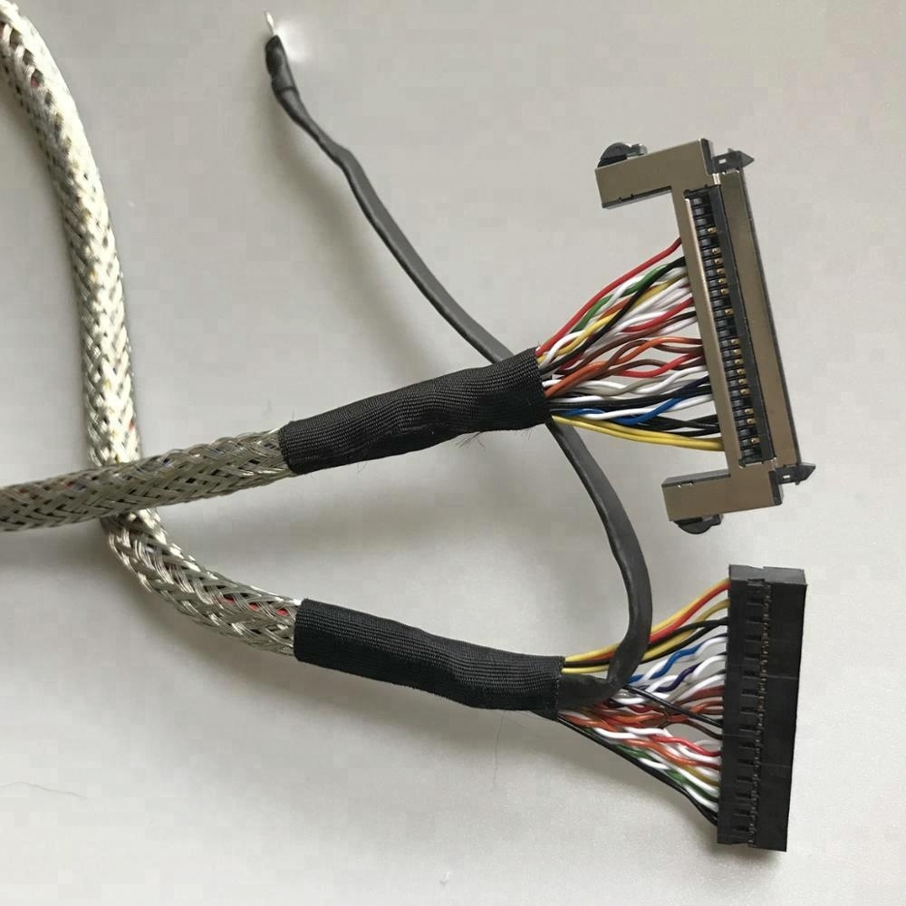 medium resolution of custom led wire harness lvds cable shielded twisted with molex