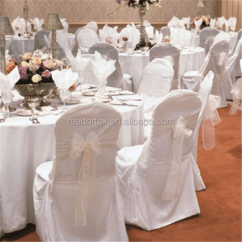 White Chair Sashes Red Desk Staples Covers With Organza Bows Sash Banquet Cheap Wedding Decoration