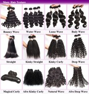 types of curly weave