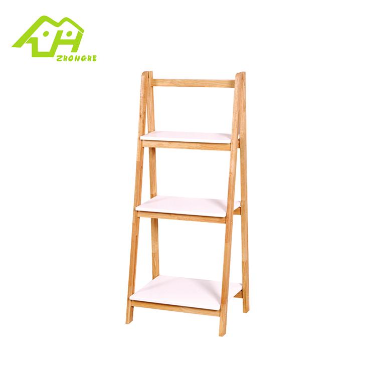 petite etagere de salle de bain en bois etagere a 3 niveaux vente en gros 1 piece buy 3 niveaux salle de bain rack bois echelle etagere salle de