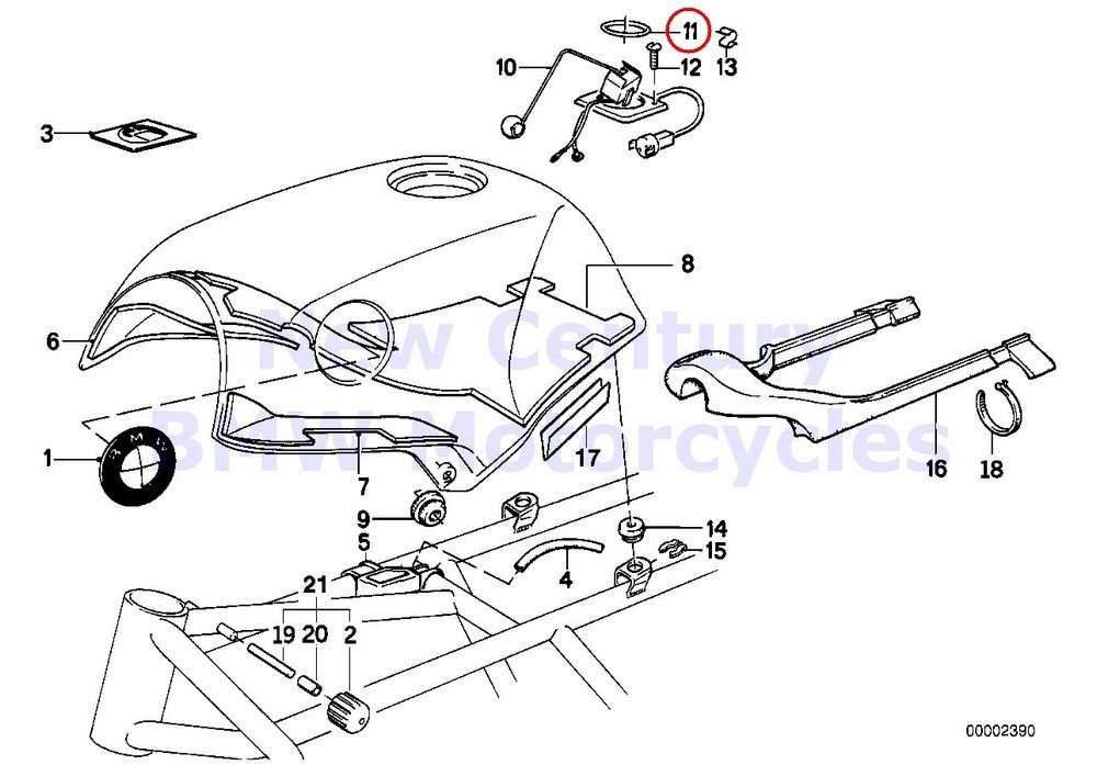 Buy BMW Genuine Motorcycle Fuel Tank/Attaching Parts
