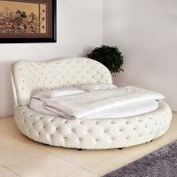 White /purple Cheap King Size Hot Sell Round Beds For Sale