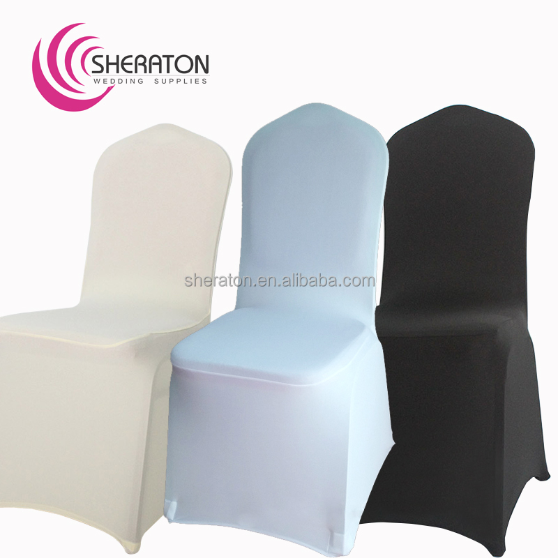 cheap universal chair covers unfinished childs rocking polyester spandex lycra cover elastic stretch wedding banquet ivory for party decoration