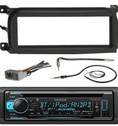 kenwood kdcbt32 bluetooth cd car stereo audio receiver bundle combo w metra dash kit [ 1500 x 1500 Pixel ]