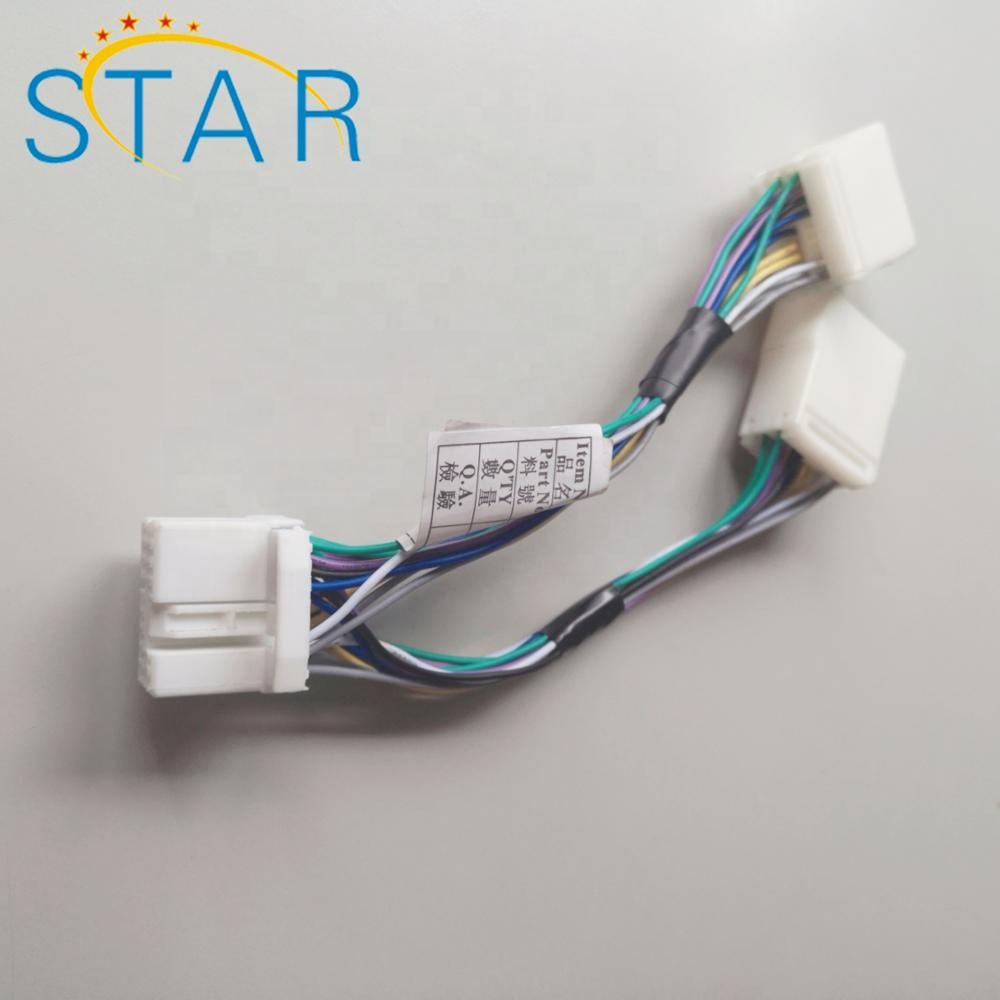 hight resolution of 14 pin automotive connector male to female y splitter cable wiring harness for honda civic