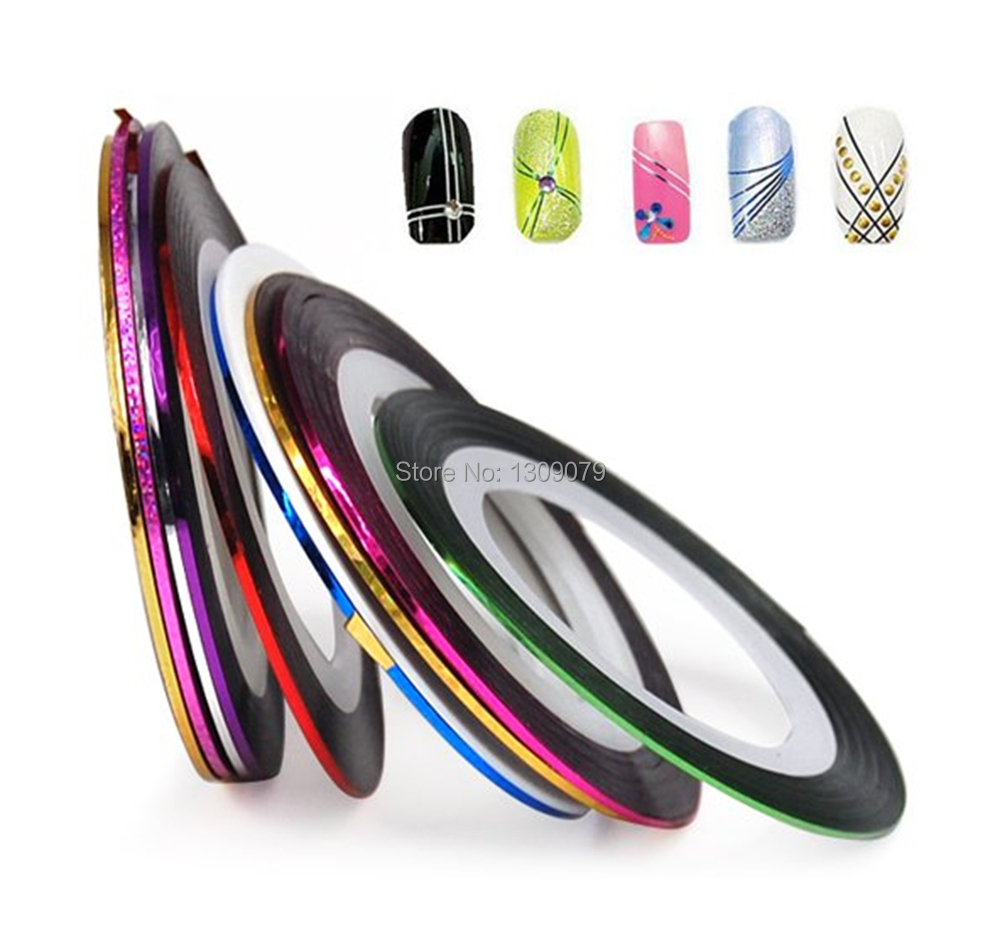 Get Ations New 39pcs Mixed Colours Pretty Rolls Striping Tape Line Nail Art Decoration Sticker