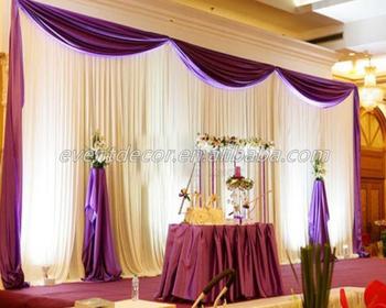 white elegant curtains wedding