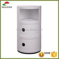 3 Door Round Plastic Storage Cabinet,Componibili Storage