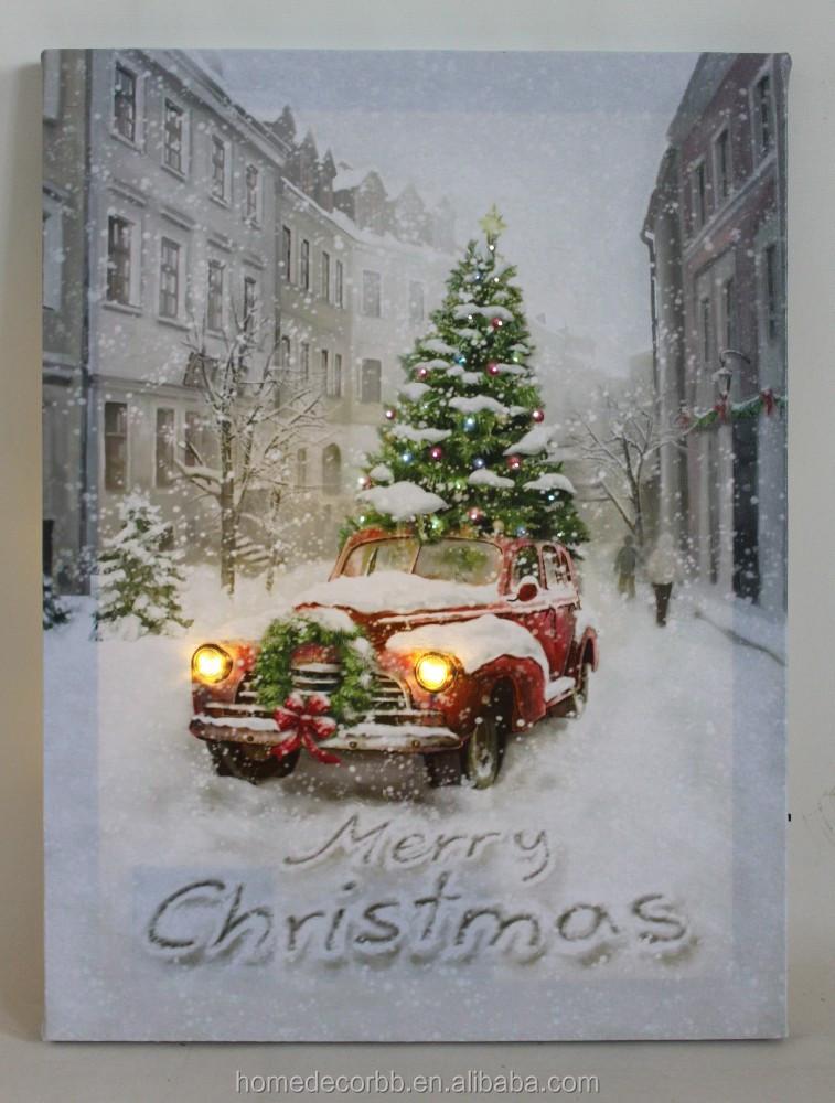 Christmas Led Canvas Wall Art