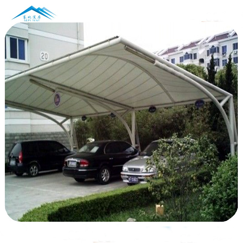 Low Price Outdoor Car Parking Shed Steel Fabric Car Canvas Carport