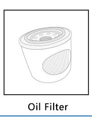 Diesel Tube Oil Filter 06j 115 561 B For Volkswagen Golf V