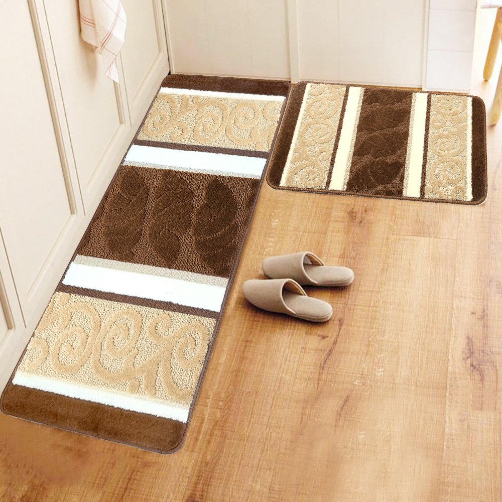 kitchen floor rugs decorative glass jars for cheap rubber backed find hebe set 2 piece non slip mats and runner