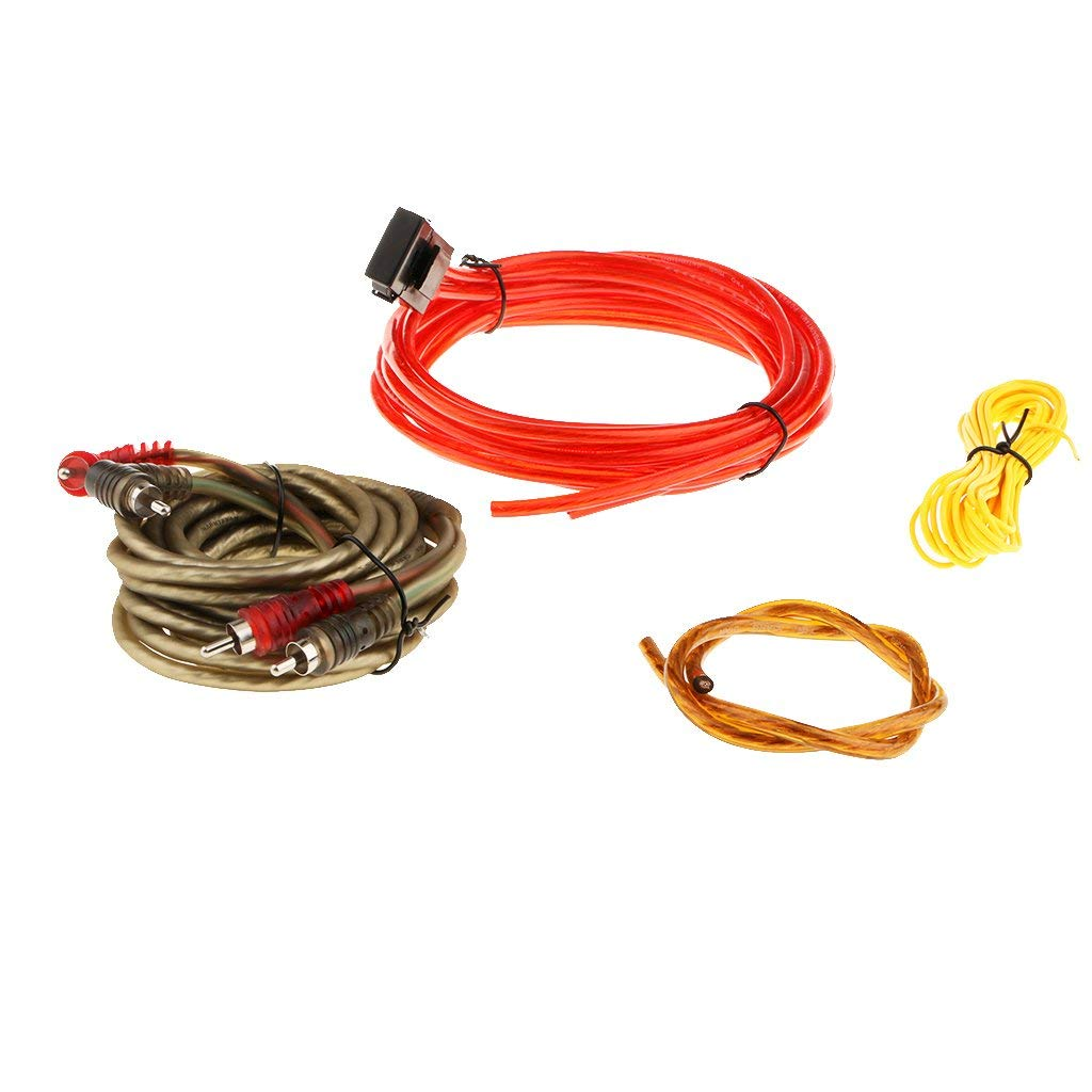 hight resolution of homyl great performance car audio subwoofer sub amplifier amp rca wiring kit 126