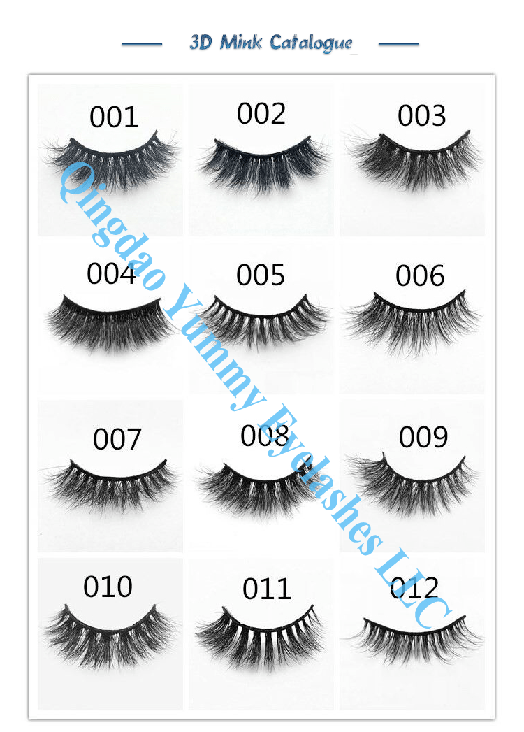 3d Invisible Band Mink Strip Eyelashes Packaging Private