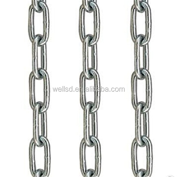 Din5685 Link Chain With Zinc Plated Or Hot Deep Galvanized