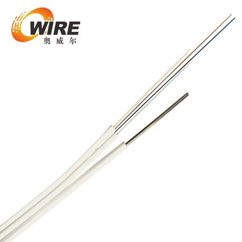 Steel Wire Additional Strength Member 6 Core Ftth Drop