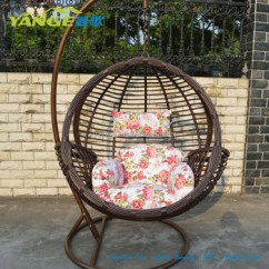 Egg Chair Swing With Stand Parsons Covers Rattan Hanging Round