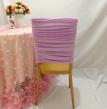 ruched spandex chair cover used conference table chairs wedding band half back covers buy product on alibaba com