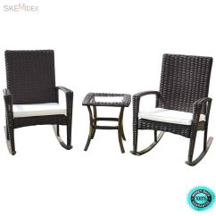 Affordable Rocking Chairs Wedding Cheap Find Deals On Line At Alibaba Com Get Quotations Skemidex 3 Pcs Rattan Wicker Patio Furniture Set Coffee Table Chair Cushioned