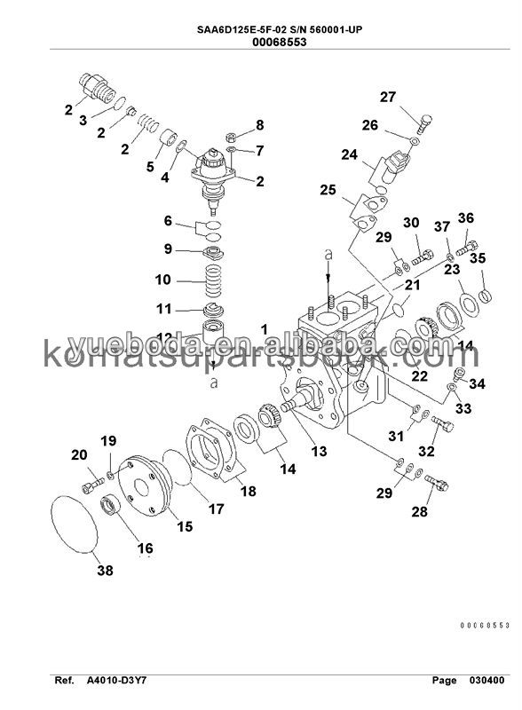 Fuel Injection Pump Assy Pc400-8 Pc450-8 6251-71-1120
