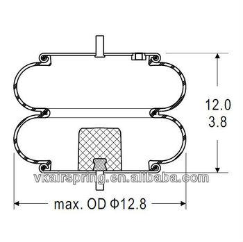 Double Convoluted Air Bag/ Air Suspension 2b12-412/ Car
