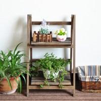 Garden Wood Flower Rack,Flower Display Shelf,Plant Stand ...