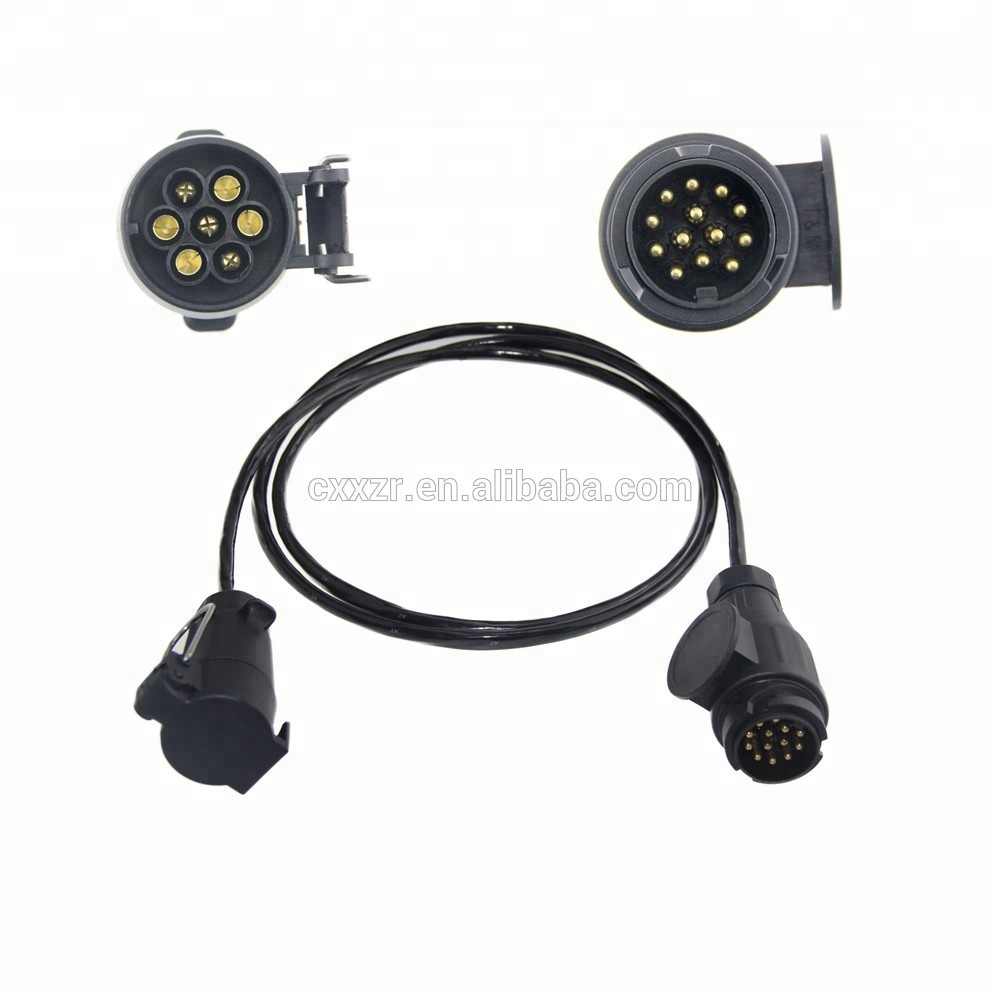 medium resolution of 12v or 24v spiral cable tractor trailer cable towing extension lighting cable lead 12n 7 pole plug