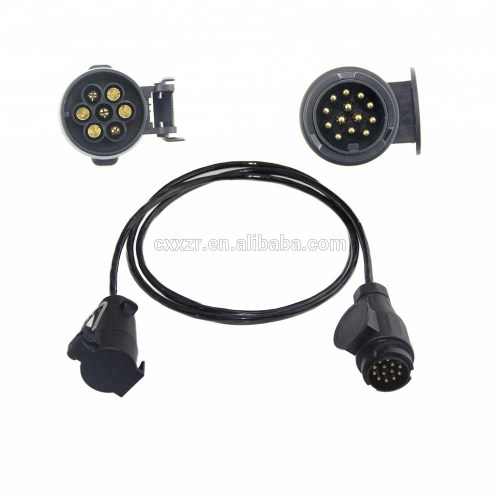 small resolution of 12v or 24v spiral cable tractor trailer cable towing extension lighting cable lead 12n 7 pole plug