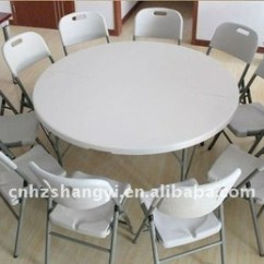 Folding Circle Chairs Chair Leg Caps Lowes Outdoor Furniture 5ft Round Table And For Picnic