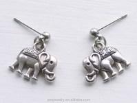Womens Jewellery 925 Sterling Silver Elephant Stud ...