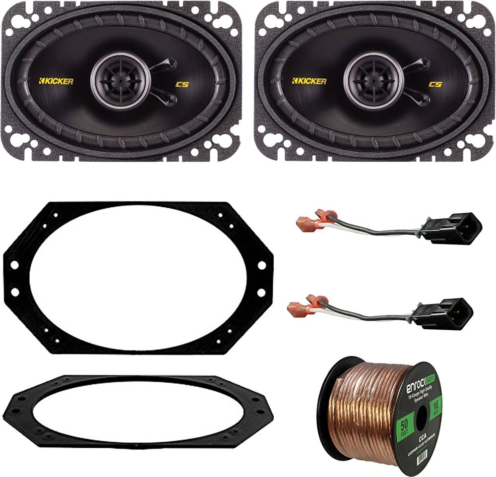 medium resolution of get quotations 97 06 jeep wrangler speaker system bundle with 2 kicker 40cs464 4x6 150 watt