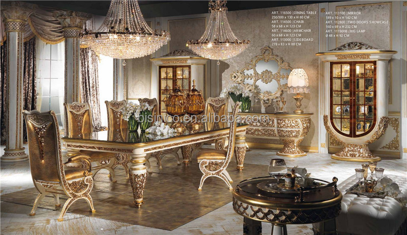 Itali barokke paleis stijl eetkamer set prachtige