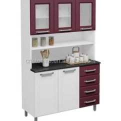 Metal Kitchen Cabinet Water Resistant Laminate Flooring High Gloss Factory Price Unit Design 3 Pieces