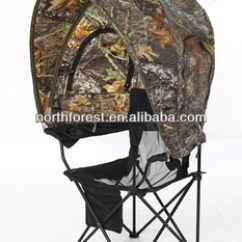 Portable Hunting Chair Slipcovers Ikea Blind Tent One Person With Camo Canopy Buy
