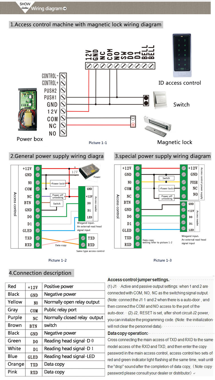 hight resolution of keypad outdoor access controller for gate entrance