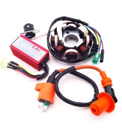 tc motor magneto stator ignition coil 6 pins ac cdi box for chinese [ 1001 x 1001 Pixel ]