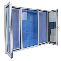 Residential Windows Three Panel Design Aluminum High