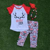 Baby Girls Boutique Clothing Girls Hello Deer Outifts ...