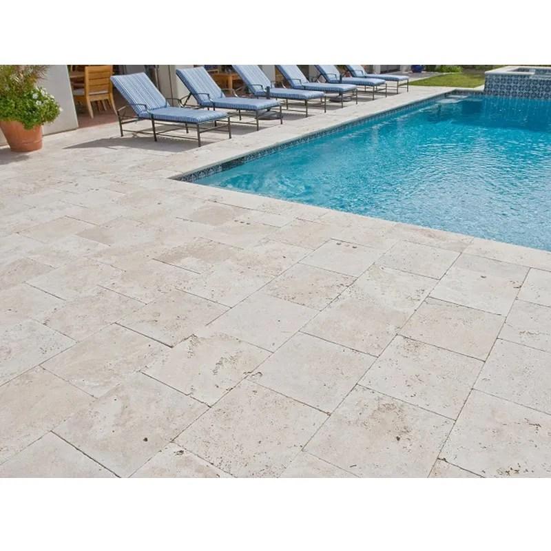 ivory tumbled travertine pool tiles and pavers modern pool tile buy travertine coping tile siliver grey travertine travertine tile product on