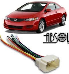 stereo wire harness honda odyssey 99 00 01 2000 car radio wiring installation parts  [ 2560 x 1978 Pixel ]