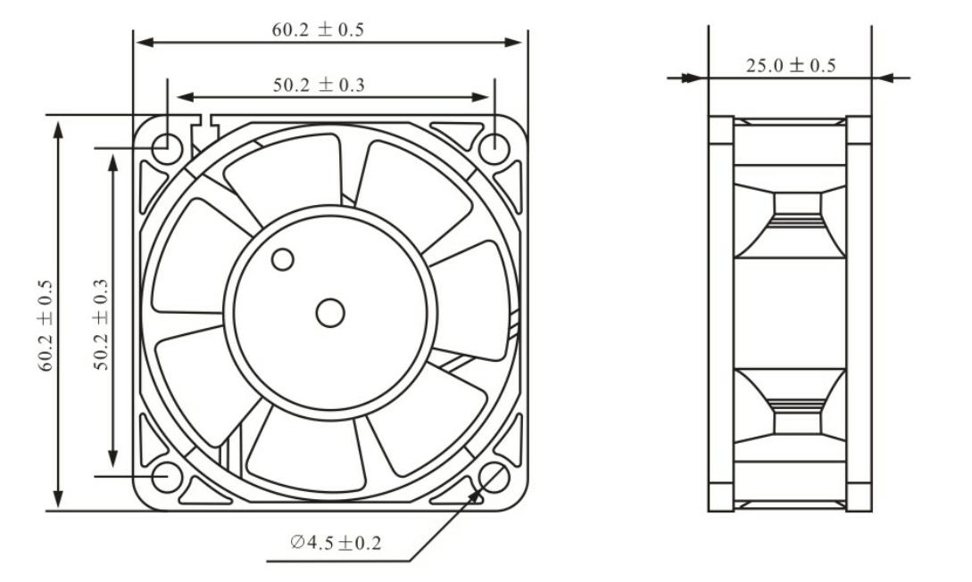 60*60*20mm 5v 12v 24v Dc Axial Fan Dc Cooling Energy