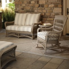 Wicker Sofa Uk Most Comfortable Sectional Sofas 2017 Old Fashionable Backyard Goods With Rocking Garden And Table Chairs For Porch
