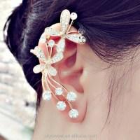 Bow Full Diamond Ear Cuff Earrings,Wing Ear Cuff Wholesale ...