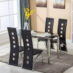 Factory Price Heavy Duty Dining Tables Set Glass Top Table And 4 Leather Chairs Kitchen Furniture Buy Leather Kitchen Furniture Dining Room Furniture Glass Dining Table Product On Alibaba Com