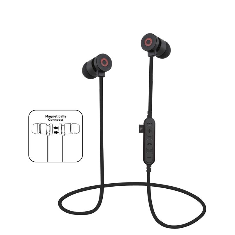 SMILYOU T9 Metal Magnetic Bluetooth 4.2 Earphone Headset