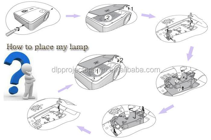 Projector Parts Original Lamp With Housing Dt00681 For