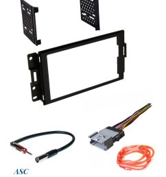asc audio car stereo radio dash install kit wire harness and antenna adapter to install a double din radio for 2004 2005 2006 2007 2008 pontiac grand prix  [ 1200 x 1569 Pixel ]
