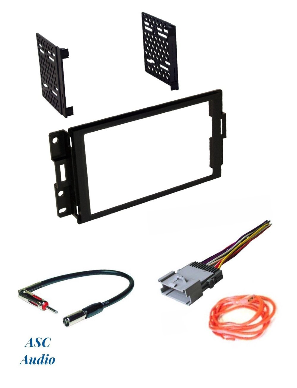 medium resolution of asc audio car stereo radio dash install kit wire harness and antenna adapter to install a double din radio for 2004 2005 2006 2007 2008 pontiac grand prix
